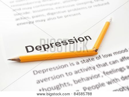 Paper with word depression