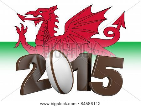 Rugby 2015 Design With Wales Flag
