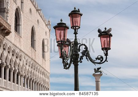 Beautiful Bronze Ornate Lampposts In Piazza San Marco