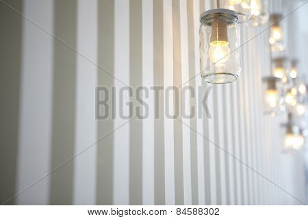 Light Bulbs in Glass Jars