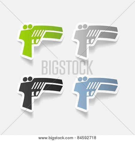realistic design element. gun game