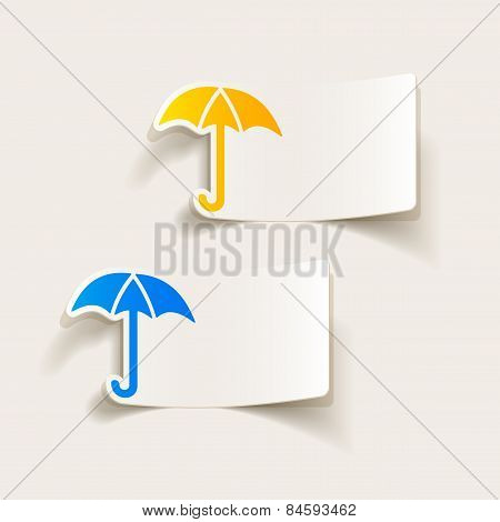 realistic design element. umbrella