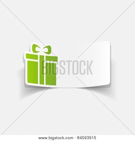 realistic design element. gift box