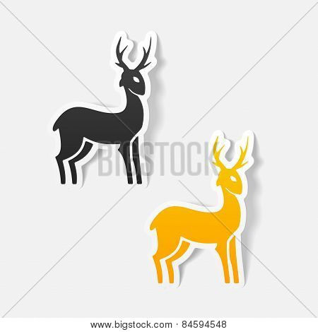 realistic design element. deer