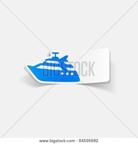 realistic design element. yacht