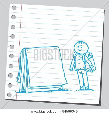 Schoolkid with flipchart