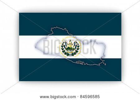 Map of Salvador. 3d