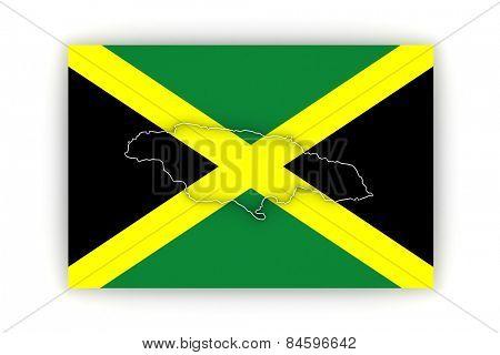 Map of Jamaica. 3d
