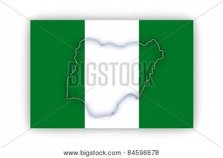 Map of Nigeria. 3d