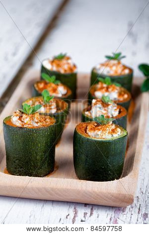 Zucchini Cheese And Sweet Paprika