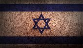 stock photo of israeli flag  - Flag of Israe with old texture - JPG