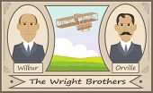 picture of glider  - Cartoon illustration of the Wright brothers and their glider - JPG