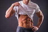 picture of abdominal muscle man  - Abdominal muscles strong man - JPG