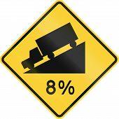 Постер, плакат: Steep Grade 8 Percent