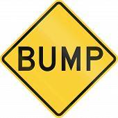 stock photo of bump  - United States road warning sign  - JPG