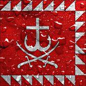 picture of vinnitsa  - a flag of Vinnytsia with rain drops - JPG