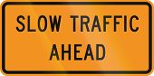 stock photo of traffic rules  - US traffic warning sign - JPG