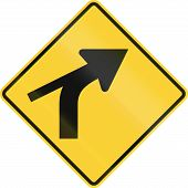 picture of intersection  - US road warning sign - JPG