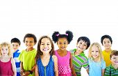 foto of diversity  - Ethnicity Diversity Gorup of Kids Friendship Cheerful Concept - JPG
