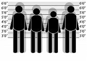 picture of police lineup  - line up police - JPG