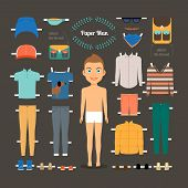 picture of jacket  - Paper doll man template - JPG