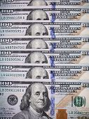 picture of 100 dollars dollar bill american paper money cash stack  - The dollar money background - JPG