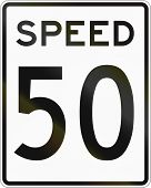 picture of mph  - United States speed limit sign 50 mph - JPG