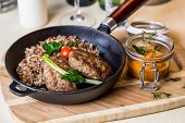 image of buckwheat  - Restourant serving dish  - JPG