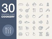 stock photo of baste  - cookery kitchen icon bast set - JPG