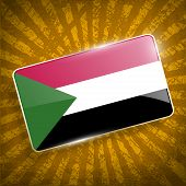 picture of sudan  - Flag of Sudan with old texture - JPG