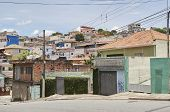 stock photo of illegal  - Poverty in the favela of Sao Paulo city - JPG