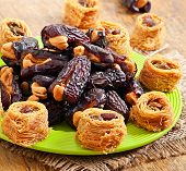 pic of lenten  - Oriental sweets and dates stuffed with cashew - JPG
