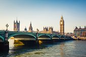 stock photo of big-ben  - Big Ben and Houses of parliament in London - JPG