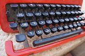 image of hebrew  - Vintage dusty typewriter with Hebrew letters - JPG