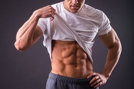 picture of abdominal  - Abdominal muscles strong man - JPG
