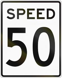 image of mph  - United States speed limit sign 50 mph - JPG