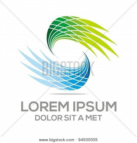 Abstract action busines creation logotype vector