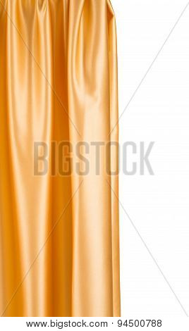 Close up of golden silk cloth.