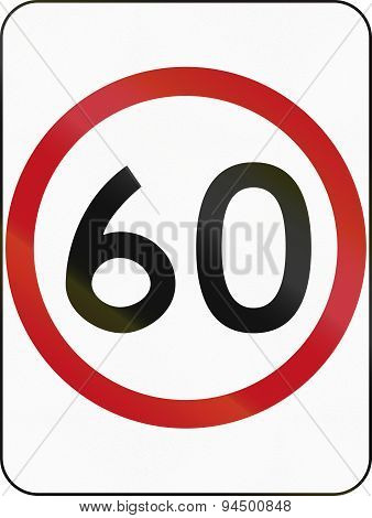Speed Limit 60 In Australia