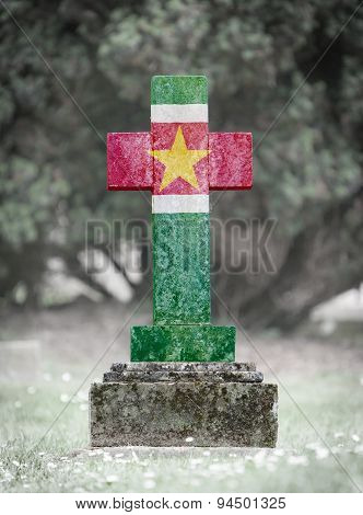 Gravestone In The Cemetery - Suriname