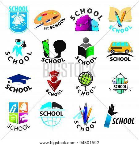 Large Set Of Vector Logos School
