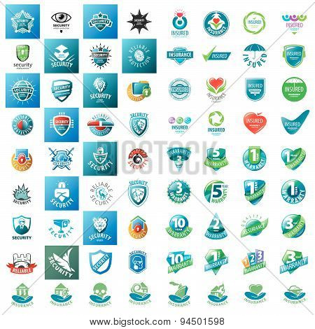 Large Set Of Vector Logos Security Guarantees And Insurance