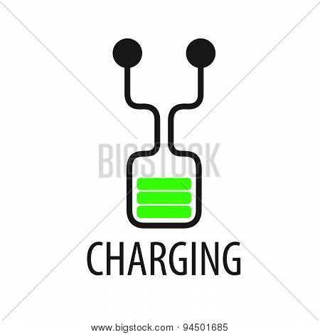 Vector Logo Abstract Battery Charge