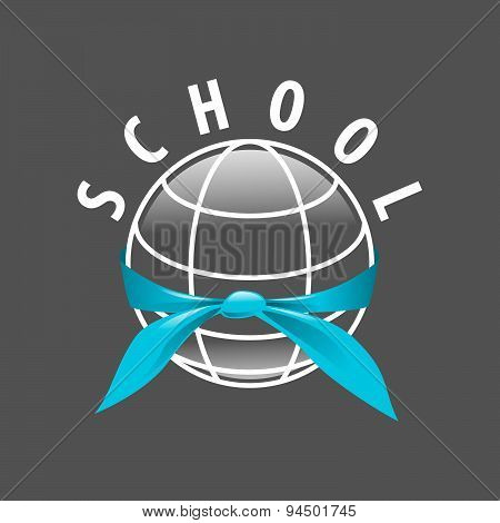 Vector Logo Blue Tie Binds The Planet