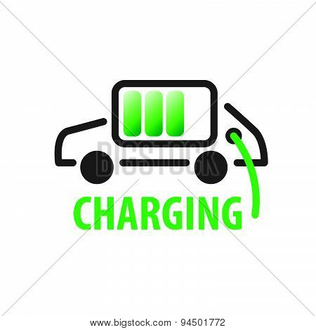 Vector Logo Charging Car Batteries