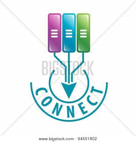 Vector Logo Connect To Server Data