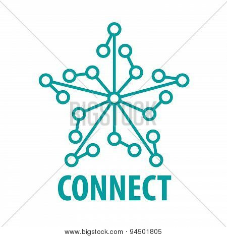 Vector Logo Connect To The Star Network