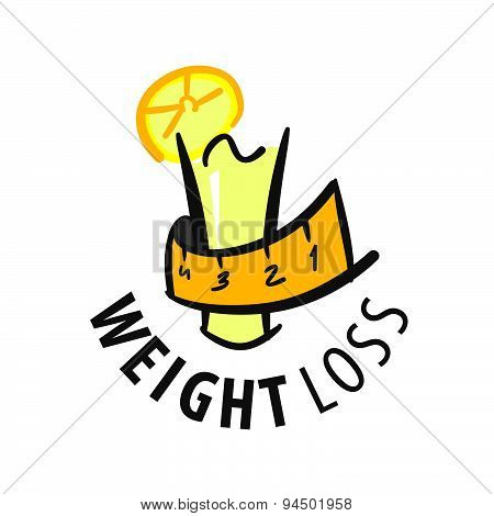 Vector Logo Juice For Weight Loss