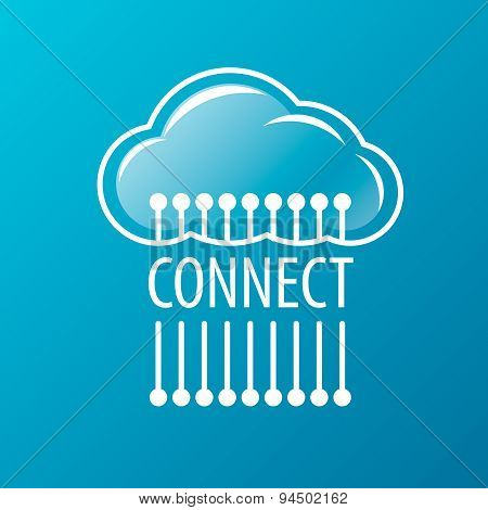 Vector Logo To Connect To The Cloud Network