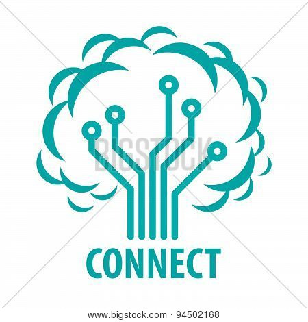 Vector Logo To Connect To The Network Tree